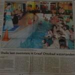 sheila laat zwemmers in graaf ottobad watertanden